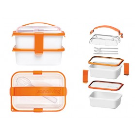 SET LUNCH BOX YOUNG ARANCIO