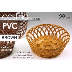 CESTINO TONDO  28*9 BROWN