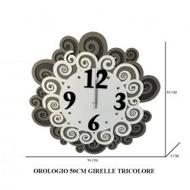 OROLOGIO 50 CM GIRELLE TRICOLORE