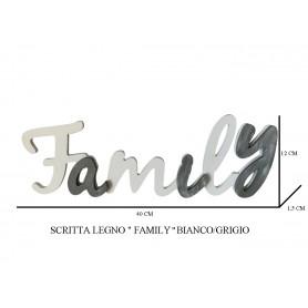 SCRITTA LEGNO FAMILY BIANCO/GRIGIO