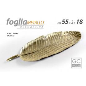 FOGLIA METALLO 18*2,5*55CM VASSOIO