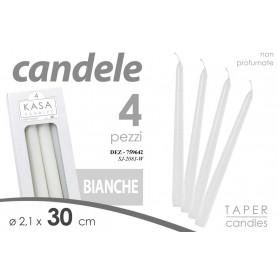 CONF 4 CANDELE BIA 9ORE 2,1*30CM