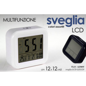 SVEGLIA LCD C/TERM 12*4*12