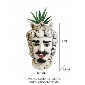 PORTA PIANTE DA PARETE UOMO MORO AN
