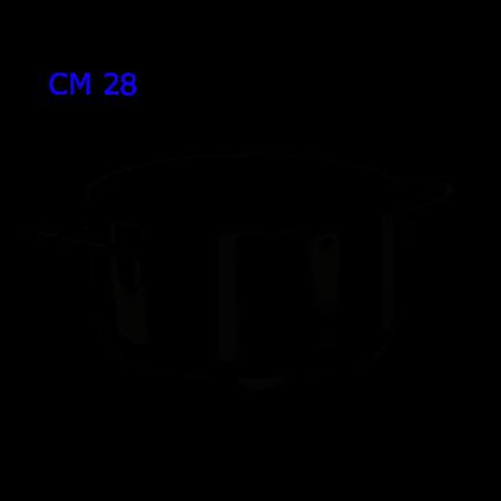 DIVINA CASSERUOLA CM.28 REINOX