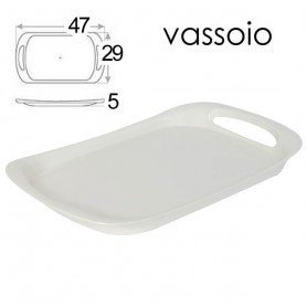 VASSOIO ACRILICO BIANCO 29*47*4,5