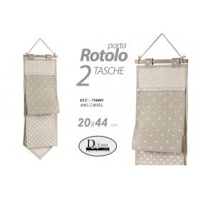 PORTA ROTOLO IN TESSUTO 20X44