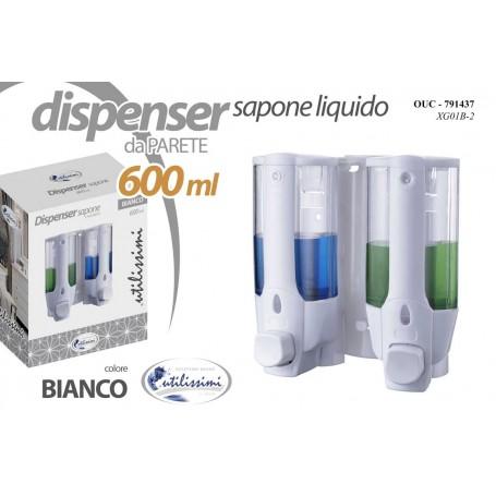 DISPENSER DOPPIO SAPONE IGIEN 600ML