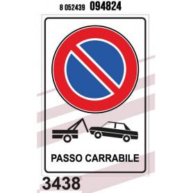 TARGHETTA PASSO CARRABILE 20*30CM