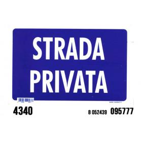 TARGHETTA STRADA PRIVATA 20*30CM J4